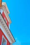 Rött kyrkligt torn Royaltyfria Bilder