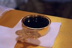Rött kyrkligt vin Royaltyfri Bild