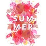 Rött lövverkbaner för sommar Fotografering för Bildbyråer