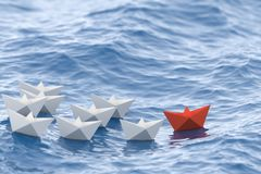 Rött ledarefartyg Royaltyfria Bilder