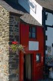 rött litet för hus royaltyfri fotografi