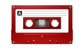 Rött ljudkassettband Arkivbild