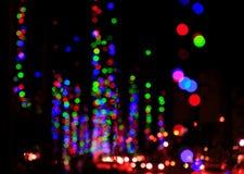 Rött ljus - grön exporeggaebakgrund Arkivfoto