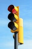 Rött ljussemaphore Fotografering för Bildbyråer