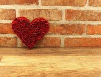 Rött luta för hjärtor Arkivbilder