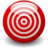 Rött mål, bullseye, exakthet, precisionsymbol - koncentrisk circ Royaltyfri Fotografi