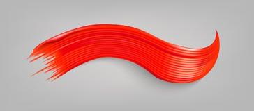 Rött målarfärgpenseldrag Arkivbilder