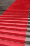 Rött matta Arkivfoto