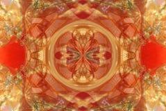 rött med den orange ljusa prydnaden vektor illustrationer