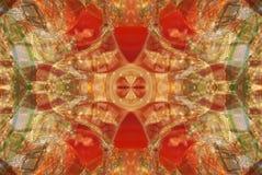 rött med den orange ljusa prydnaden stock illustrationer