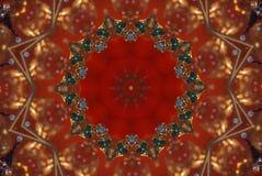 rött med den orange ljusa prydnaden royaltyfri illustrationer
