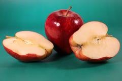 rött moget för äpple Fotografering för Bildbyråer