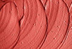 Rött moroccan kosmetiskt leratexturslut upp Royaltyfri Foto
