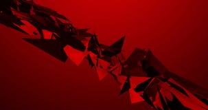 Rött Morphing gem för video för animering för former 4k för triangelPulsationg bakgrund