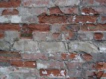 Rött murverk, gammal vägg Arkivfoto