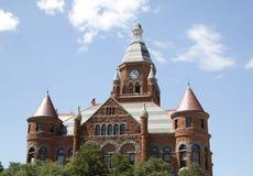 Rött museum för historiska byggnader i Dallas Fotografering för Bildbyråer