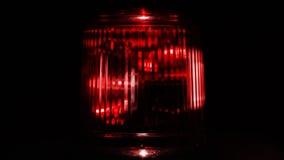 rött nöd- ljus close upp arkivfilmer