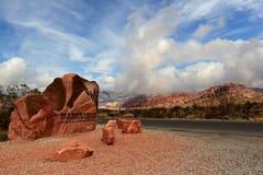 Rött naturvårdsområde för rockkanjonnational Arkivfoto