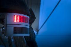 Rött navigeringljus Arkivfoto