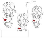 Rött Nosed meddelande royaltyfri illustrationer