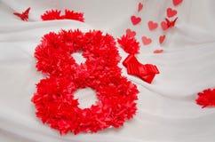 rött nummer åtta fotografering för bildbyråer