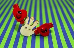 Rött nyckelpigaträ Royaltyfria Bilder