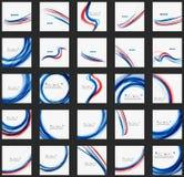 Rött och blått färgvirvelbegrepp Arkivfoton