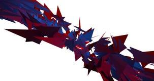 Rött och blått Morphing gem för video för animering för former 4k för triangelPulsationg bakgrund