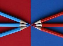 Rött och blått ritar royaltyfria bilder