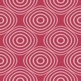 Rött och blekt - rosa geometrisk prydnad seamless modell Royaltyfri Bild