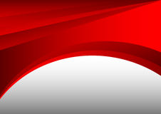 Rött och grått abstrakt utrymme för för vågbakgrundsvektor och kopia royaltyfri illustrationer