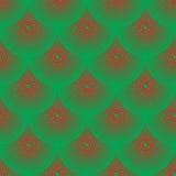 Rött och grönt squamous för vektormodell - Arkivbilder