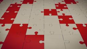 Rött och Grey Puzzle Floor Arkivbilder