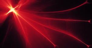 Rött och gult abstrakt begrepp fodrar kurvpartikelbakgrund Royaltyfri Bild
