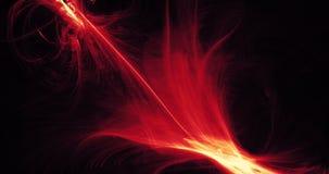 Rött och gult abstrakt begrepp fodrar kurvpartikelbakgrund Royaltyfria Foton