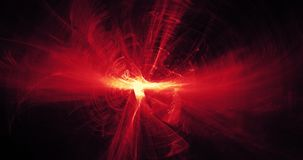 Rött och gult abstrakt begrepp fodrar kurvpartikelbakgrund Fotografering för Bildbyråer