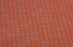 Rött och gult tak Royaltyfria Bilder