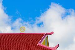 Rött och gult tak Arkivbild