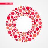 Rött och rosa färger bubblar vektormodellen Isolerat symbol för cirkelform ram dekorativt designelement Royaltyfri Foto