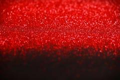 Rött och svart blänka bakgrund Arkivfoton