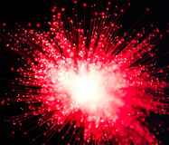 Rött och vit Starburst Arkivbild