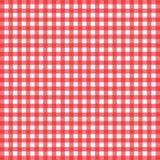 Rött och vitt rutigt borddukbaner Textur för: plommoner fotografering för bildbyråer