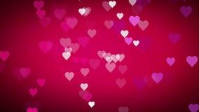 Rött omslag för livlig hjärta på den gröna skärmchromatangenten som är användbar för valentin för drama för underhållning för sho stock video