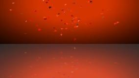 Rött omslag för livlig hjärta som är användbart för valentin för drama för underhållning för show för etapp för Oscar filmgranskn vektor illustrationer