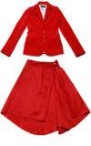 Rött omslag och kjol Arkivfoto