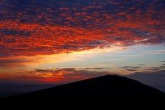 Rött på berget Royaltyfri Fotografi