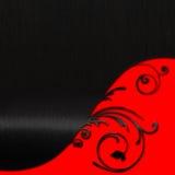 Rött på svart Arkivbild