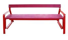 Rött parkera bänken Arkivbild