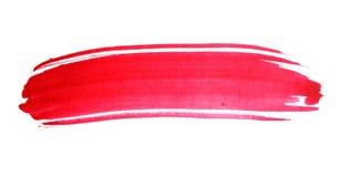 Rött penseldrag för vattenfärg stock illustrationer