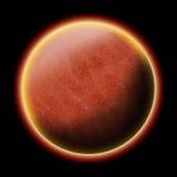 Rött planet royaltyfri illustrationer